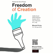 Exhibition in Indonesia - Freedom of Creation