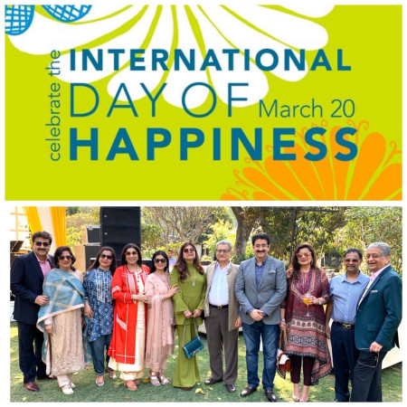International Day of Happiness Celebrated On Line
