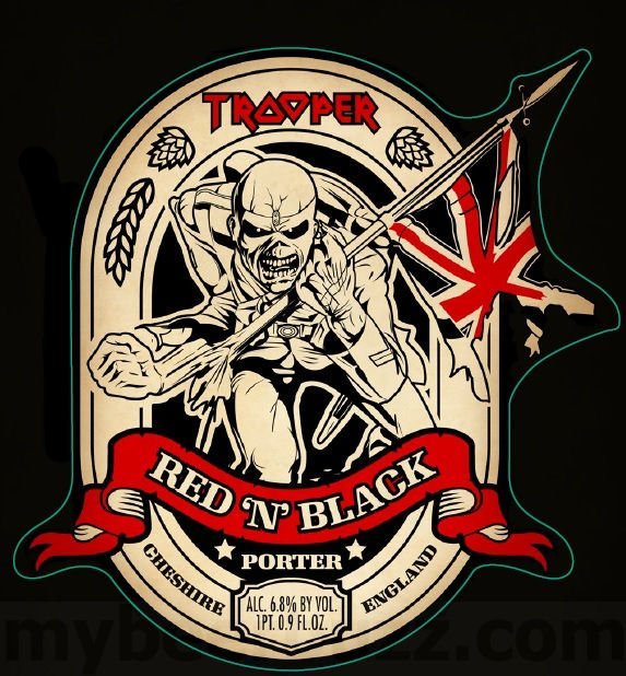 Trooper Red 'n' Black Porter is a English Porter style beer brewed by Robinsons Family Brewers.