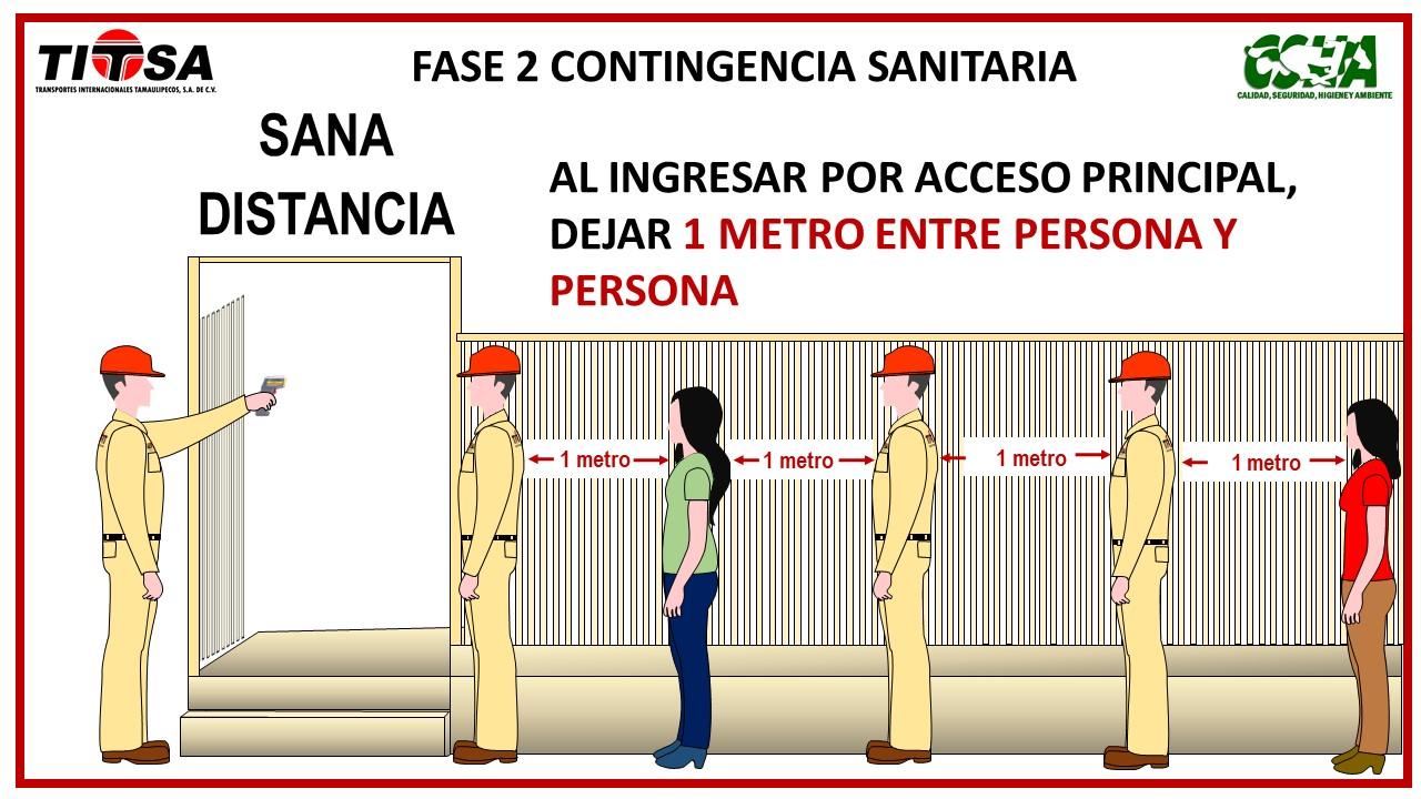 SANA DISTANCIA EL INGRESO A BASE