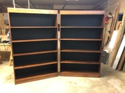 Finished, matching book shelves
