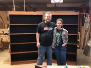 Kaleb and Daisy and their book shelves