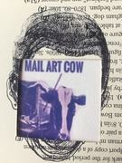 mail art cow cut-up