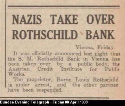 Nazis Seize Rothschild Bank