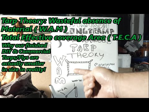 Outdoor Gear Theory: Tarps, W.A.M & what we are really covered by a tarp shelter. TARPOLOGY ADV 109