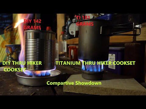 DIY Series. DIY Thru Hiker Cookset vs Titanium Thru Hiker Cookset.  Comparative Showdown.