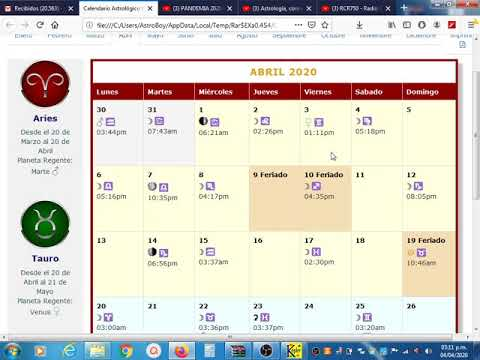 Guia Astrologica del 04/04/2020