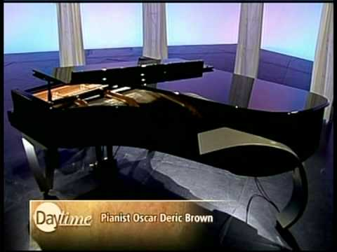 Oscar Deric Brown plays rare ResInno piano on Daytime Television Show