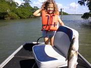 Taking great grand baby fishing