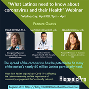 What Latinos need to know about coronavirus and their Health Webinar