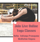 Live online yoga classes with Rishikesh Yog Mandir