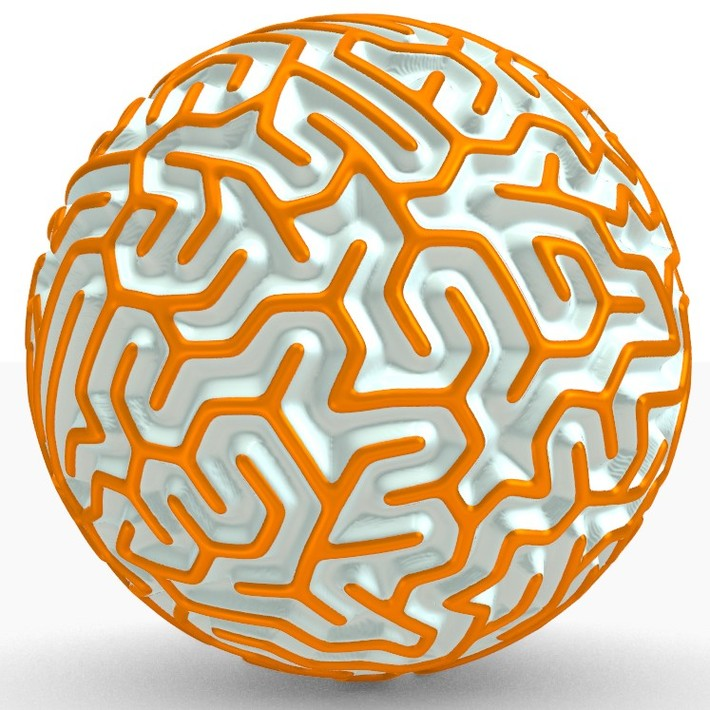 Maze on sphere