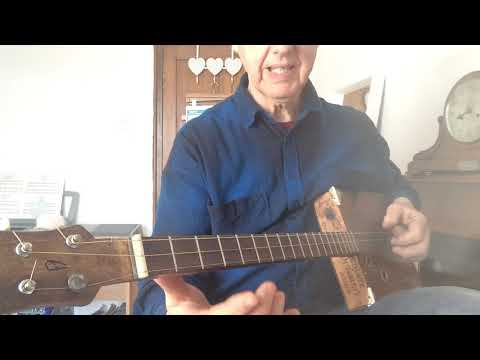 """Cigarbox guitar tutorial  """"Baby please don't go"""""""