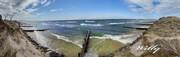 Ludington State Park, Michigan.  Lake Michigan Beach panorama-No Beach due to rising water levels