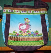 Chickens with Sweaters tote bag- front
