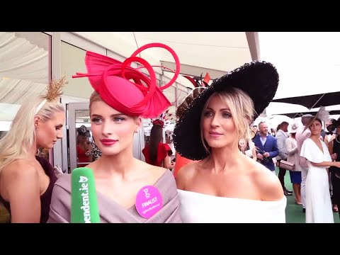 Stunning outfits and impressive hats on show at ladies day in Galway