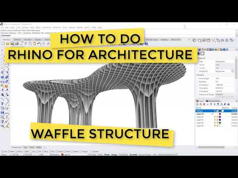 How to Do: Waffle Structure in Rhino (10mins FULL); Beginner Tutorial