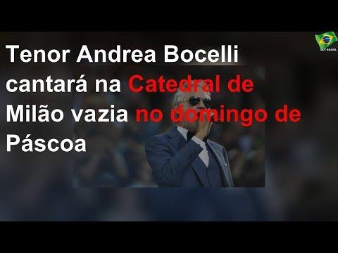 Tenor Andrea Bocelli cantará na Catedral de Milão vazia no domingo de Páscoa