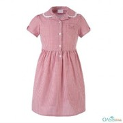 soft red checked frock manufacturer