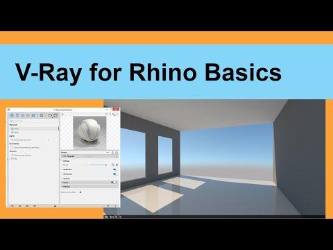 V Ray for Rhino Basics