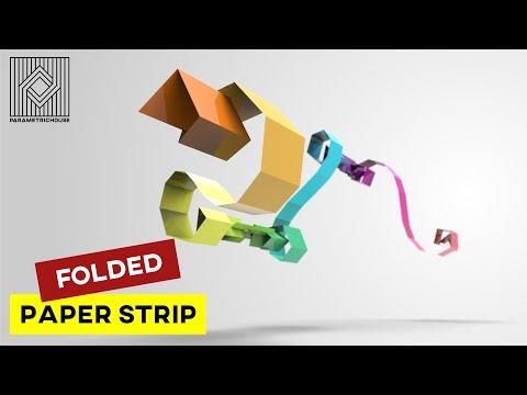 Folded Paprer Strip