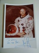Neil Armstron Autograph to Jim Hall of Imperial Limosines Inc.