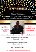 Bishop 72nd Online Birthday Celebration flyer newest