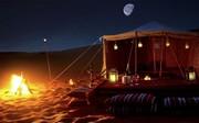 Desert night camp View