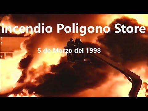 INCENDIO DE POLIGONO STORE 5 DE MARZO DE 1998 - SEVILLA, ESPAÑA