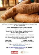 COVID-19 Pandemic Voices from Margins Webinar series