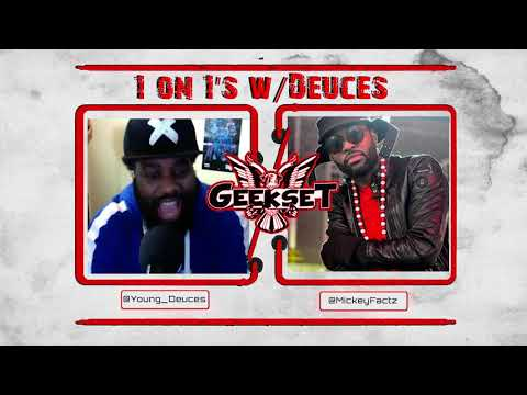 Mickey Factz talks SF4, Spider-Man & More | Season 1 Ep. 1 | Geekset presents...1 on 1's w/Deuces