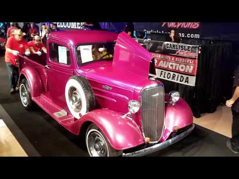 1936 Chevrolet Pickup Street Rod Signed By the Earnhardts At the 2019 Fall Carlisle Auction