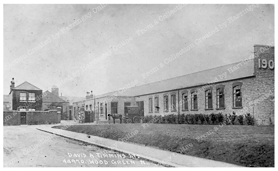"Davis & Timmins ""Automatic Screw Factory"", Hornsey Park, Wood Green, c1905"