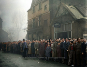 Arsenal Football Fans Queuing for Match against Dynamo Moscow Match, 1945