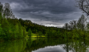 Clouds over pond, 4-30-20