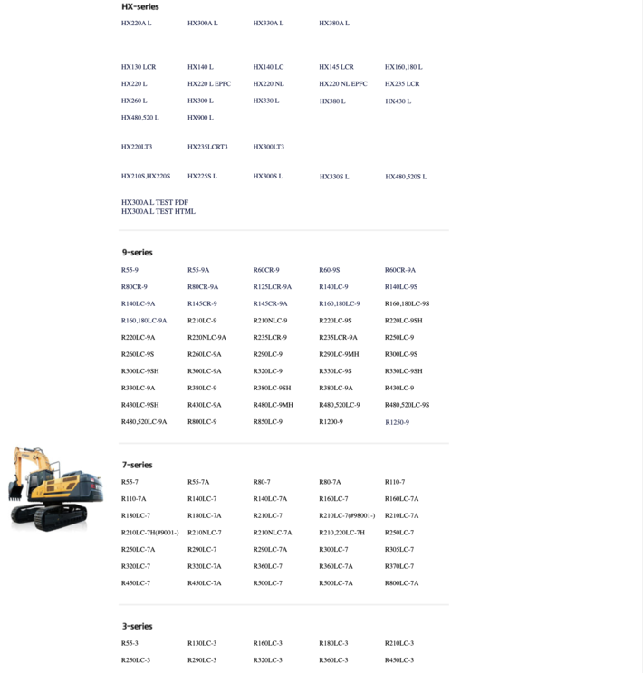 Hyundai crawler loaders - parts and service