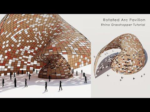 Rotated Arc Structure Pavilion Rhino Grasshopper Tutorial