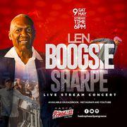 "Live Stream concert of Len ""Boogsie"" Sharpe."