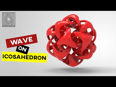 Wave on Icosahedron
