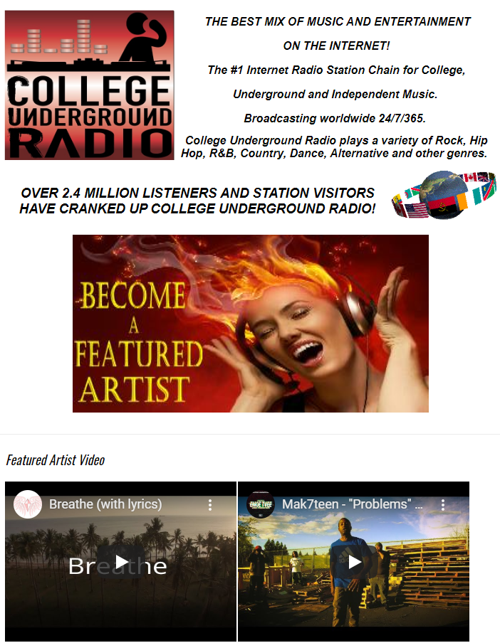 """""""Breathe"""" video also featured on Home Page at"""