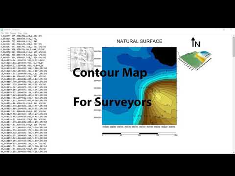 Contour Map - For Surveyors