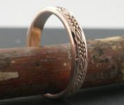 Celtic Wedding Ring in Rose Gold