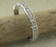 Narrow Celtic Wedding Ring with Diamonds