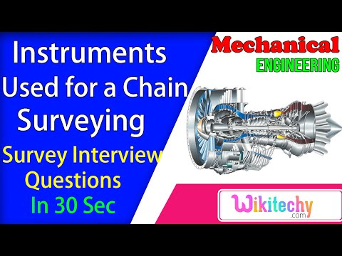 What are the instruments used for a chain surveying | survey interview questions and answers