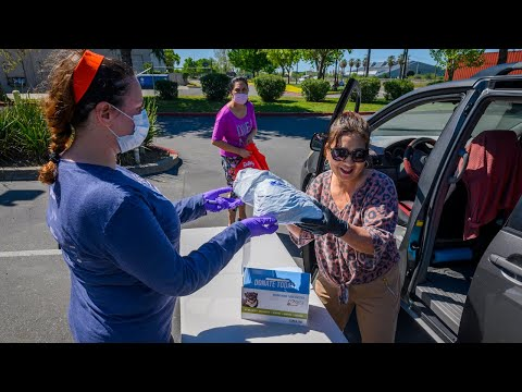 Watch Sacramento SPCA give out free food and pet supplies during the coronavirus outbreak