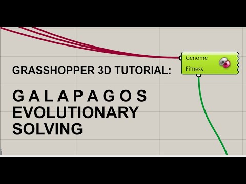 Grasshopper Generative Design Tutorial:  Galapagos - Evolutionary Solving