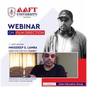 AAFT Alumnus Mrigdeep Lamba on Webinar to Motivate Students