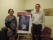 """Eu e Rosely no Metropolitan, em Taubaté durante o lançamento do meu """"CASOS E CAUSOS DA CASERNA""""."""