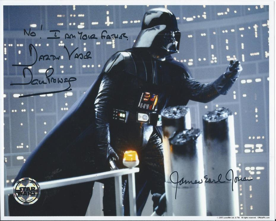 David Prowse inscribed and signed and James Earl Jones signed D
