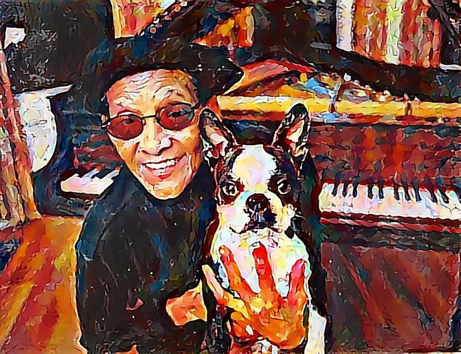 """JIMMY SCOTT & Boston Terrier """"DIZZY""""   ~"""